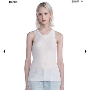 NWT T by Alexander Wang White Tank Top